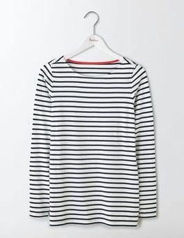 Ivory/Navy Long Sleeve Breton