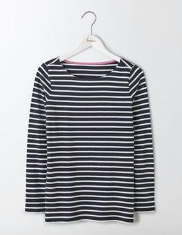 Navy/Ivory Long Sleeve Breton