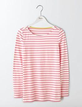 Ivory/Pink Fizz Long Sleeve Breton