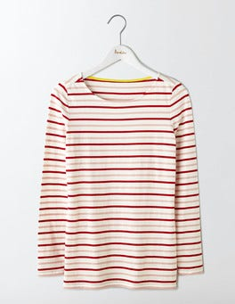 Orange Peel Multi Stripe Long Sleeve Breton