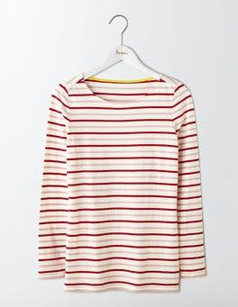 Orange Peel Multi Stripe Long Sleeve Breton