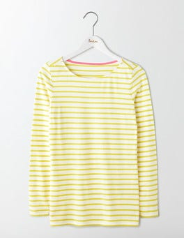 Ivory/ Citrus Long Sleeve Breton