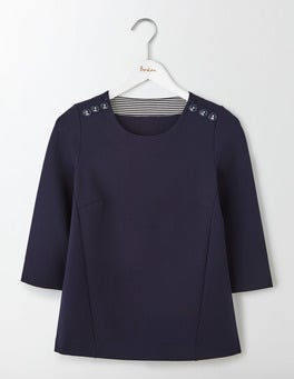 Navy Evie Ponte Top