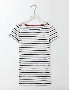 Whitewash Blue Multi Stripe Short Sleeve Breton