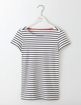 Ivory/Navy Short Sleeve Breton