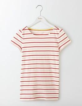 Orange Peel Multi Stripe Short Sleeve Breton