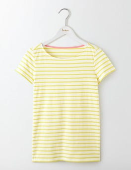 Ivory/Pineapple Short Sleeve Breton