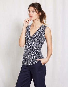 Crossover Ruched Top
