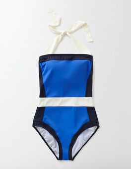 Blue Colourblock Santorini Swimsuit
