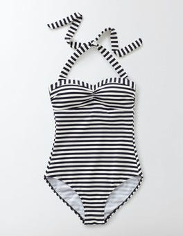 Navy/Ivory Stripe Rimini Stripe Swimsuit