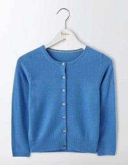 Forget-Me-Not Cashmere Crop Cardigan