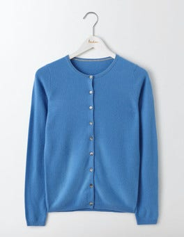 Forget-Me-Not Cashmere Crew Cardigan