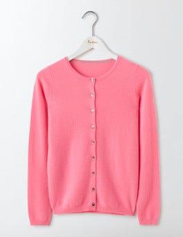 Pink Fizz Cashmere Crew Cardigan