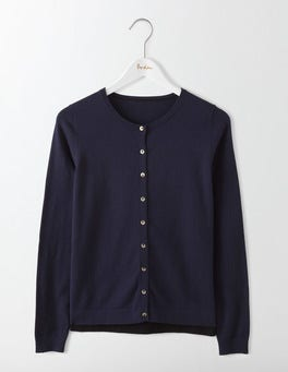 Navy Favourite Crew Cardigan