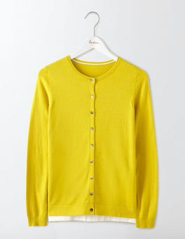 Mimosa Yellow Favourite Crew Cardigan