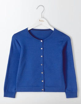 Santorini Blue Favourite Crop Cardigan