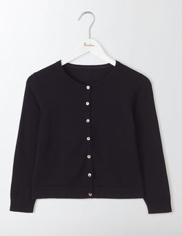 Black Favourite Crop Cardigan