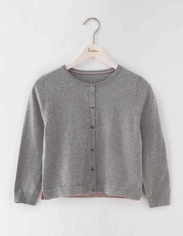 Grey Melange Favourite Crop Cardigan