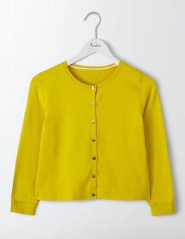 Mimosa Yellow Favourite Crop Cardigan
