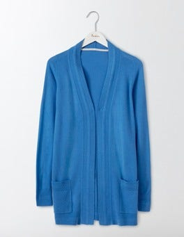 Forget-Me-Not Cashmere Long Line Cardigan