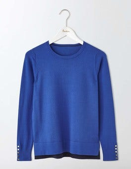 Santorini Blue Tilly Sweater