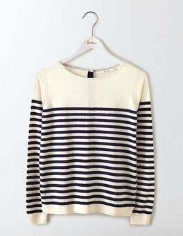 Ivory/Navy Stripe Tresco Stripe Jumper