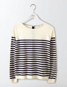 Ivory/Navy Stripe Tresco Stripe Jumper