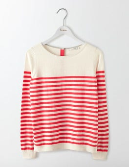 Ivory/Strawberry Sundae Stripe Tresco Stripe Jumper