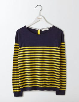 Navy/Mimosa Yellow Stripe Tresco Stripe Jumper