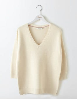 Ivory Clare V-Neck Sweater