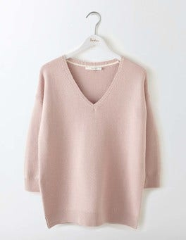 Chalky Pink Clare V-Neck Sweater