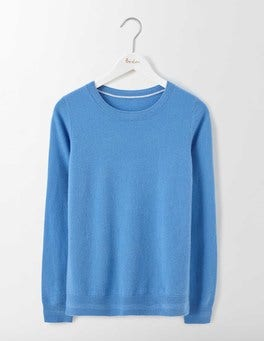Forget-Me-Not Cashmere Crew Neck Jumper