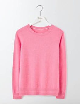 Pink Fizz Cashmere Crew Neck Sweater