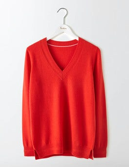 Snapdragon Cashmere Relaxed V-Neck Sweater