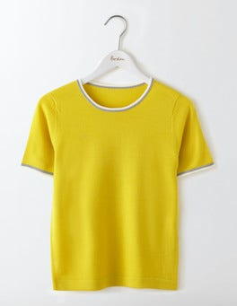 Mimosa Yellow/Ivory Eve Knitted Top