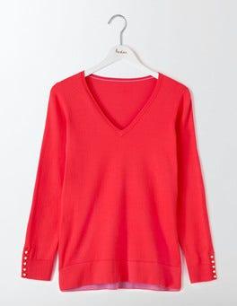 Strawberry Sundae Tilly Relaxed V-Neck Sweater
