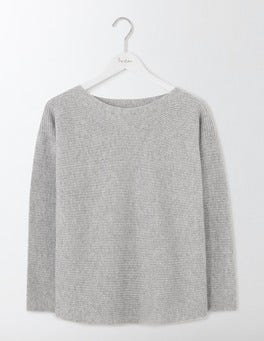 Grey Melange Iona Relaxed Sweater