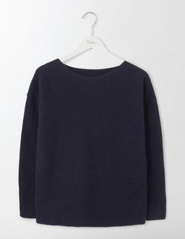 Navy Iona Relaxed Jumper