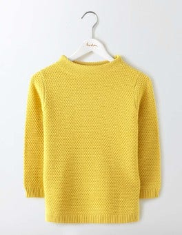 Mimosa Yellow Skye Funnel Neck Jumper