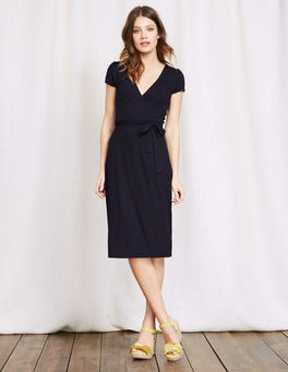 Navy Summer Wrap Dress