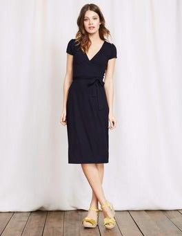 Navy Summer Wrap Dress