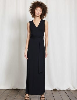 Black Sleeveless Wrap Maxi