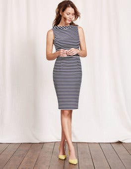 Navy and Ivory Stripe Martha Dress