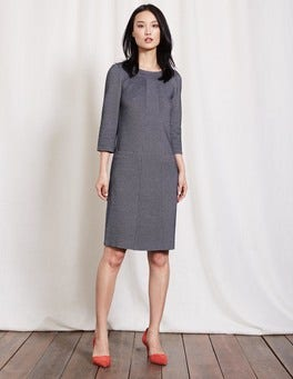 Navy/Ivory Riva Jacquard Dress