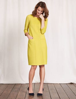 Mimosa Yellow/Ivory Riva Jacquard Dress