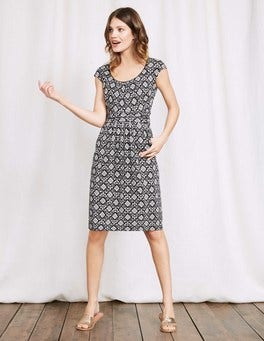 Black Collage Margot Jersey Dress