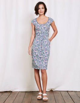 Santorini Blue Paisley Margot Jersey Dress