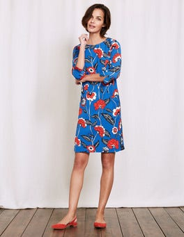China Blue Maritime Floral Isabelle Dress