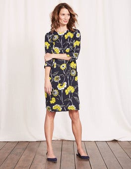 Navy Maritime Floral Isabelle Dress