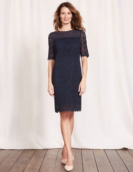 Navy Poppy Lace Dress